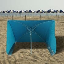 Sombrilla Playa Con laterales Antiviento 170x170 cm.